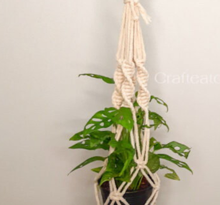 How to make a rope to hang plant pots (Macramae)