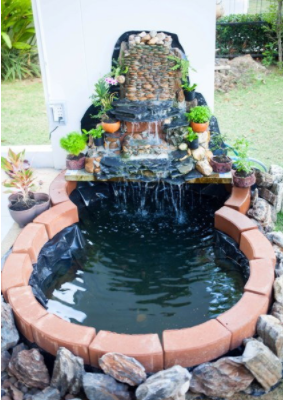 """Review: DIY """"fish pond waterfall"""" dig it by yourself"""